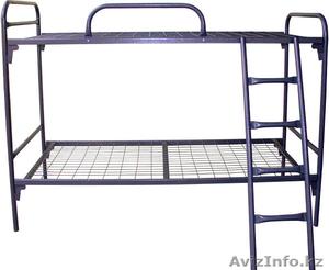 Кровати металлические двухъярусные для рабочих, кровати металлические дёшево. - Изображение #2, Объявление #1425093